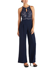 Lace Wide-Leg Jumpsuit