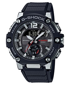 Men's Analog-Digital Black Resin Strap Watch 43mm