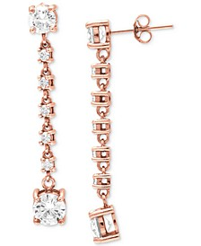 Cubic Zirconia Linear Drop Earrings, Created for Macy's