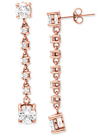 Giani Bernini Cubic Zirconia Linear Drop Earrings, Created for Macy's