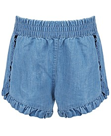 Baby Girls Ruffled Denim Shorts, Created for Macy's