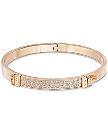 Rose Gold-Tone Crystal Narrow Bangle Bracelet