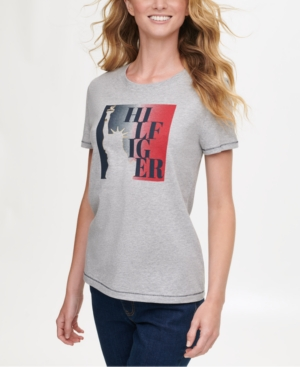 Tommy Hilfiger COTTON LIBERTY LOGO T-SHIRT, CREATED FOR MACY'S