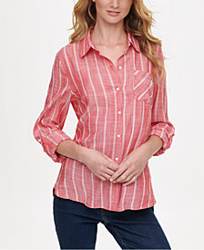 Tommy Hilfiger Striped Button-Up Shirt