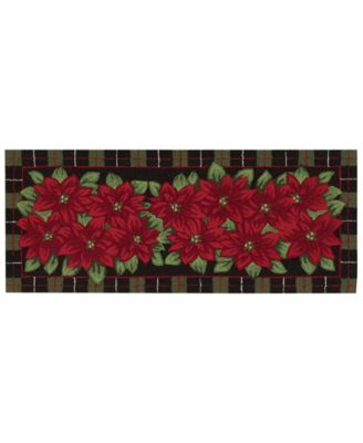 "Image of Nourison Rugs, Holiday Poinsettia 22"" x 54"" Runner"