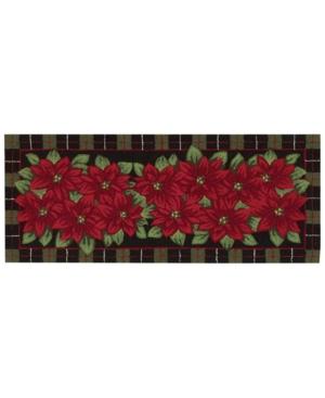 Nourison Rugs Holiday Poinsettia 22 x 54 Runner Bedding
