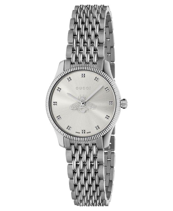 Gucci - Women's Swiss G-Timeless Slim Stainless Steel Bracelet Watch 29mm