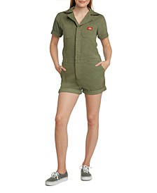 Juniors' Zip-Front Romper