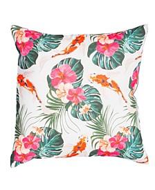 """Outdoor Koi Boi 20"""" x 20"""" Decorative Pillow"""