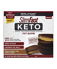 Slim Fast Keto Fat Bomb Peanut Butter Cup, 0.6 oz, 14 Count, 2 Pack