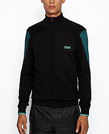 BOSS Men's Zowit Zip-Through Knitted Full Zip Sweater