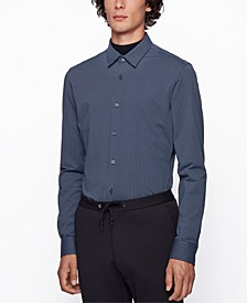 BOSS Men's Ronni Graphic-Print Slim-Fit Shirt