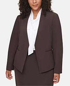 Plus Size Asymmetrical Suit Jacket