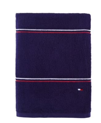 "Modern American Double Stripe  30"" x 54"" Cotton Bath Towel"