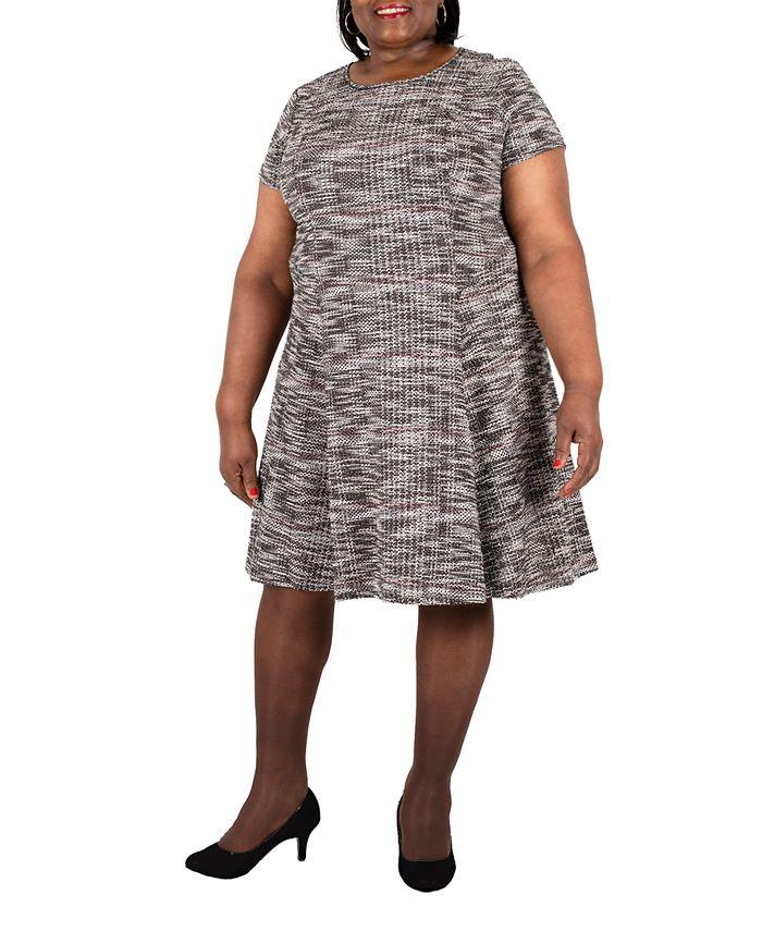 Robbie Bee - Bee Plus Size Bouclé Dress