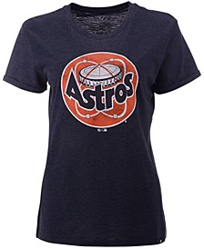 Women's Houston Astros Throwback Match Tri-blend Hero T-Shirt