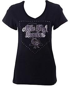 Women's Colorado Rockies Home Slogan Ultra Rival V-Neck T-Shirt