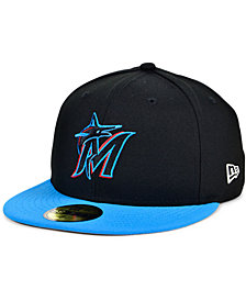 New Era Miami Marlins Plate Patch 59FIFTY Cap