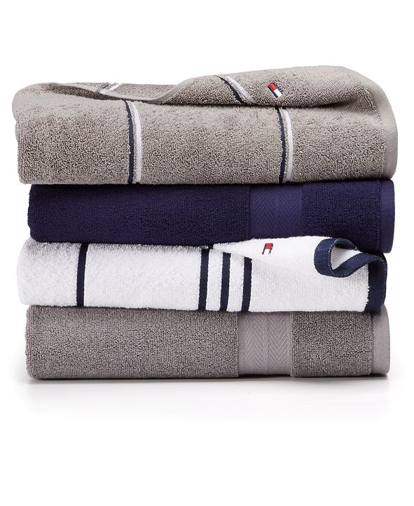 Tommy Hilfiger Modern American Cotton Mix & Match Bath Towel Collection