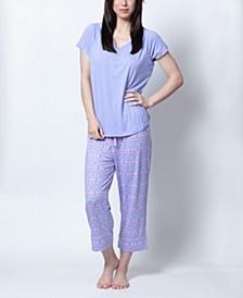 Henley Capri Pajama Set