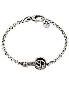 Double G Key Bracelet in Sterling Silver