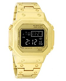 INC Men's Digital Gold-Tone Bracelet Watch 44mm, Created for Macy's