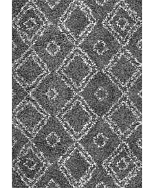 "Iola OZSG18B Gray 6'7"" x 9' Area Rug"