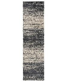 Hobart Shag 773 Onyx 2' x 7' Runner Area Rug