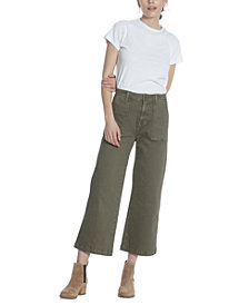 Vigoss Jeans Cropped Wide-Leg Jeans