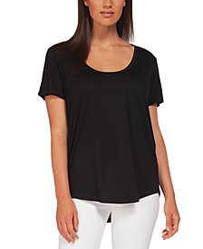 Black Tape Scoop-Neck T-Shirt
