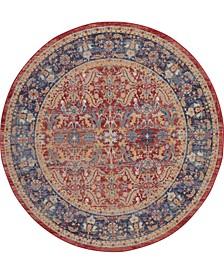 Ankara Global ANR02 Red 6' Round Rug