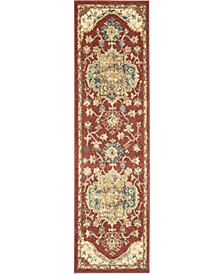"""Traditional Antique TRQ01 Red 2'2"""" x 7'6"""" Runner Rug"""