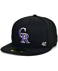 Men's Colorado Rockies Jackie Robinson 50th Patch 59FIFTY-FITTED Cap