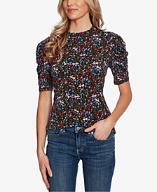 Puff-Sleeve Wildflower Top