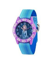 Disney Frozen 2 Elsa Girls' Purple Plastic Time Teacher Watch 32mm