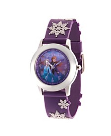 Disney Frozen 2 Elsa, Anna Girls' Stainless Steel Watch 32mm