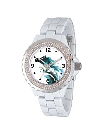 Disney Frozen 2 Elsa Women's Enamel Sparkle White Alloy Watch 41mm