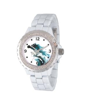 Disney Frozen 2 Elsa Women's Enamel Sparkle White Alloy Watch 41mm