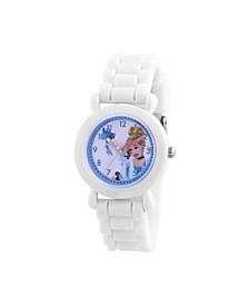 Disney Princess Cinderella Girls' White Plastic Watch 32mm