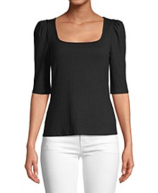 Women's Knit Square Neck Top