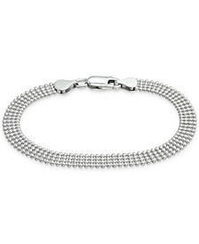 Four Row Bead Chain in Sterling Silver, 7-1/4""