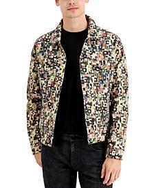 Men's Printed Denim Jacket