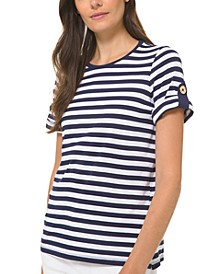 Striped Roll-Sleeve Shirt