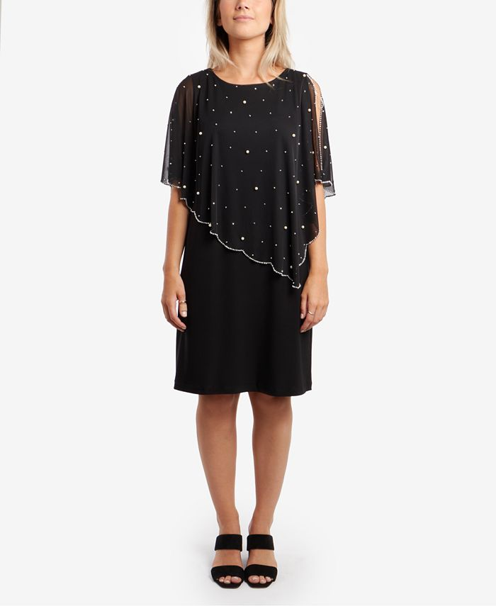 MSK - Embellished Overlay Sheath Dress