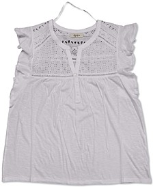 Eyelet Flutter-Sleeve Top, Created for Macy's