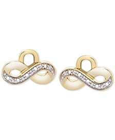 Diamond Accent Infinity Earring Charms in 14k Gold