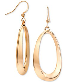 Gold-Tone Oval Drop Earrings, Created for Macy's