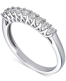 Diamond 9-Stone Band (3/8 ct. t.w.) in 14k White Gold
