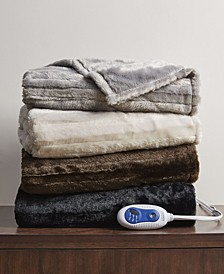 Faux Fur Electric Throw