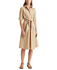 Petite Fit-and-Flare Shirtdress